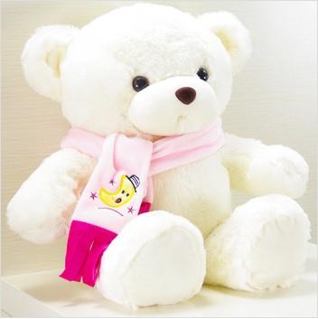 北京 围巾/dmsky 毛绒玩具熊 围巾熊泰迪熊娃娃 70厘米礼品包装